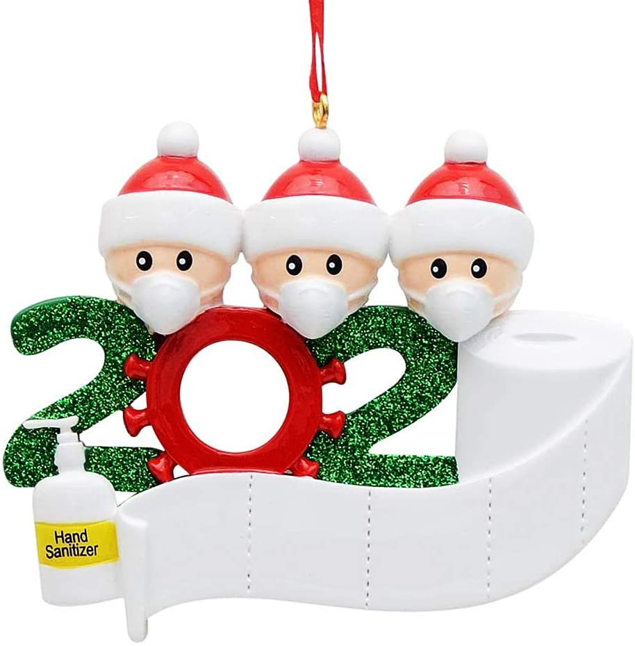 BOBOTATA 2020 Christmas Ornaments Quarantine Christmas Party Decoration Gift Product Personalized Family of 2/2/3/4/5/6
