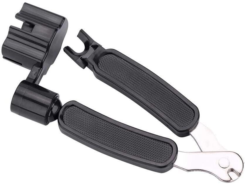 awstroe Peg Winder, Ergonomically 3-in-1 Bridge Pin Puller, Guitar String Winder, for Guitar Mandolins Use String Tool Bass