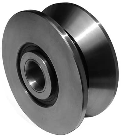 Smith Bearing Company MVYR-100 V-Groove Yoke Roller - 140 mm Roller Dia, 56 mm Width, 30 mm Bore Dia, Unsealed