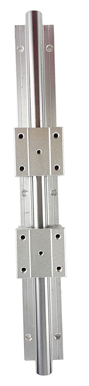 TEN-HIGH Linear Rail CNC Parts SBR25 25mm, 550mm 21.65inch Fully Supported Linear Rail+2pcs SBR25UU BlockBearing Block Bearing