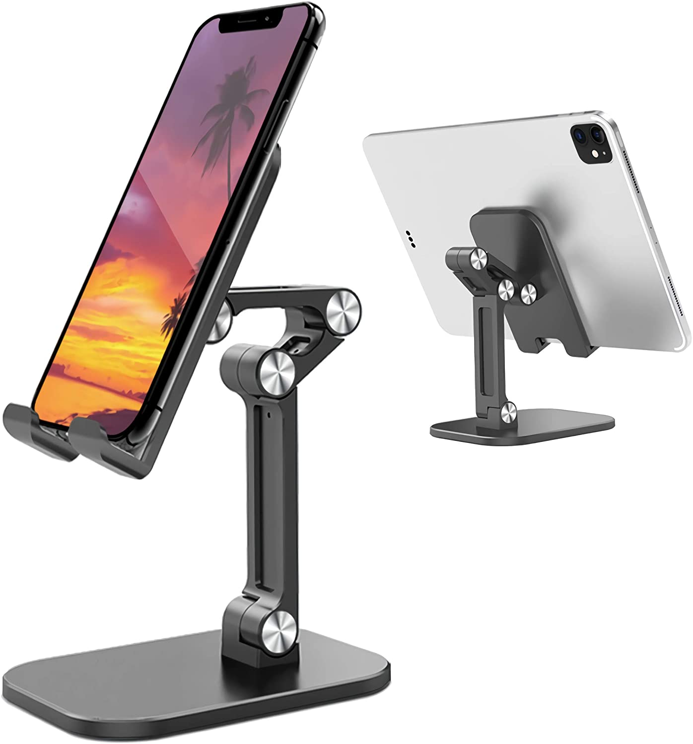 Trace Kasa Adjustable Cell Phone Stand, Angle Height Adjustable Foldable, Phone Holder for Desk w/Anti-Slip Silicon Pad,Legs, Compatible All Mobile Phone iPad iPhone Tablet Nintendo Switch Kindle