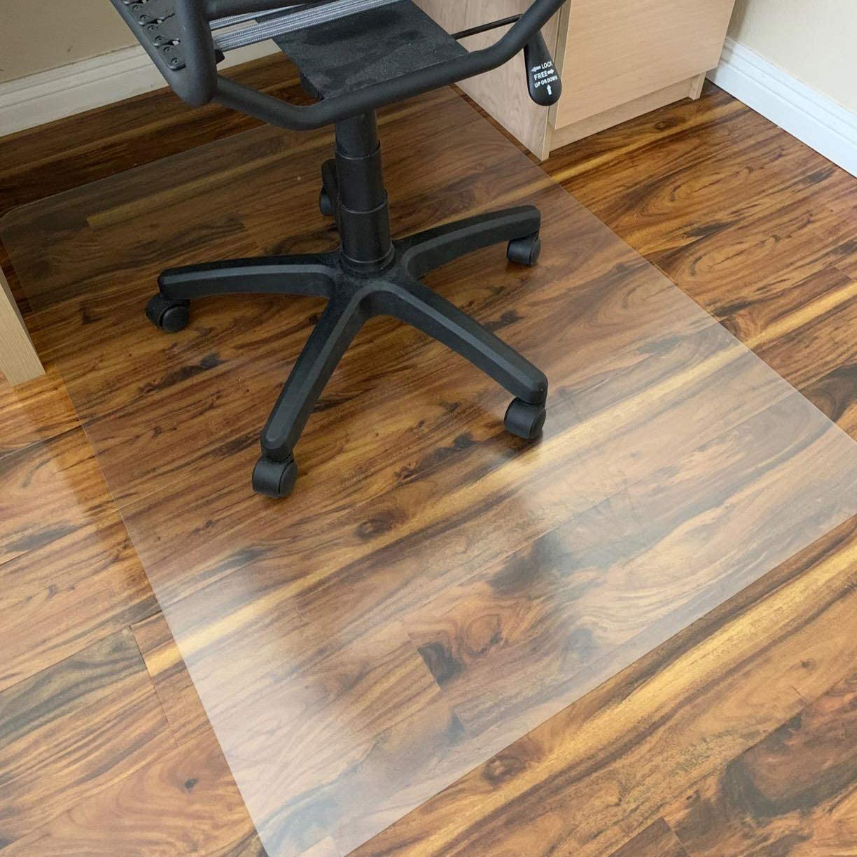 Polycarbonate Office Chair Mat for Hardwood Floor, Floor Mat for Office Chair (Rolling Chairs), Desk Mat & Office Mat for Hardwood Floor, Only for Hardwood Floor, Immediately Flat Out of Box, 36
