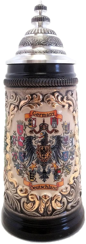 SPECIAL BUY 1/2L Deutschland Crests German Beer Stein ONE Stein Made in Germany
