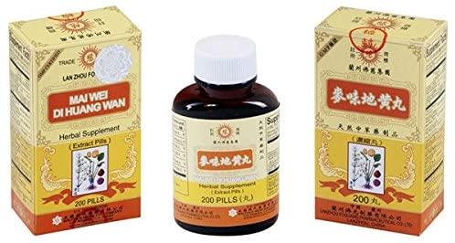 Lan Zhou Foci - Mai Wei Di Huang Wan - Herbal Supplement 200 Pills