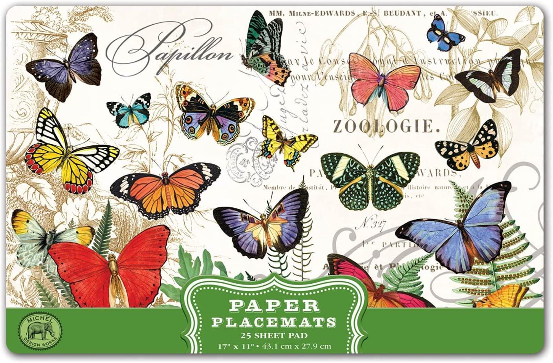 Michel Design Kitchen Dining Party Paper Placemats - Papillon