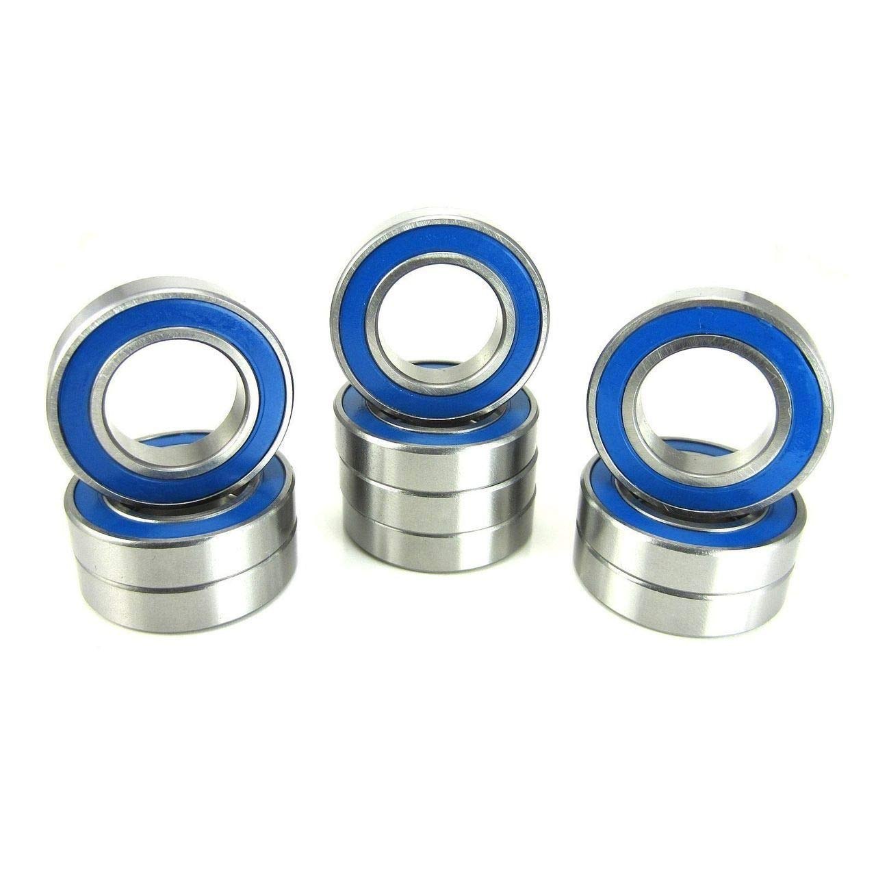 17x30x7mm Precision Ball Bearings ABEC 3 Blue Rubber Seals (10)