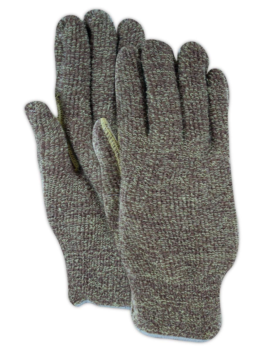 Magid CutMaster para-Aramid Blend Terrycloth Knit Gloves with Continuous Knit Wrist - Cut Level 4 (12 Pair)