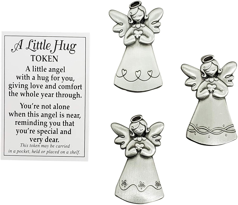 Ganz A Little Hug Angel Token Charm with Prayer Card Size: 1