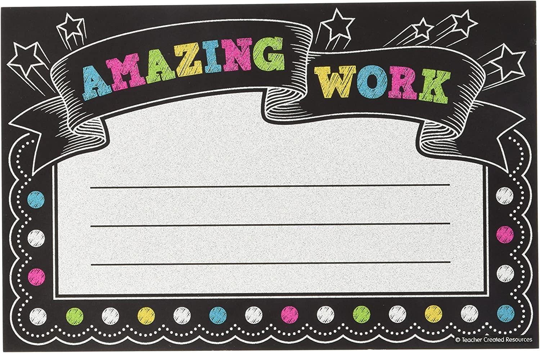 Teacher Created Resources Chalkboard Bright's Amazing Work Awards (5836)