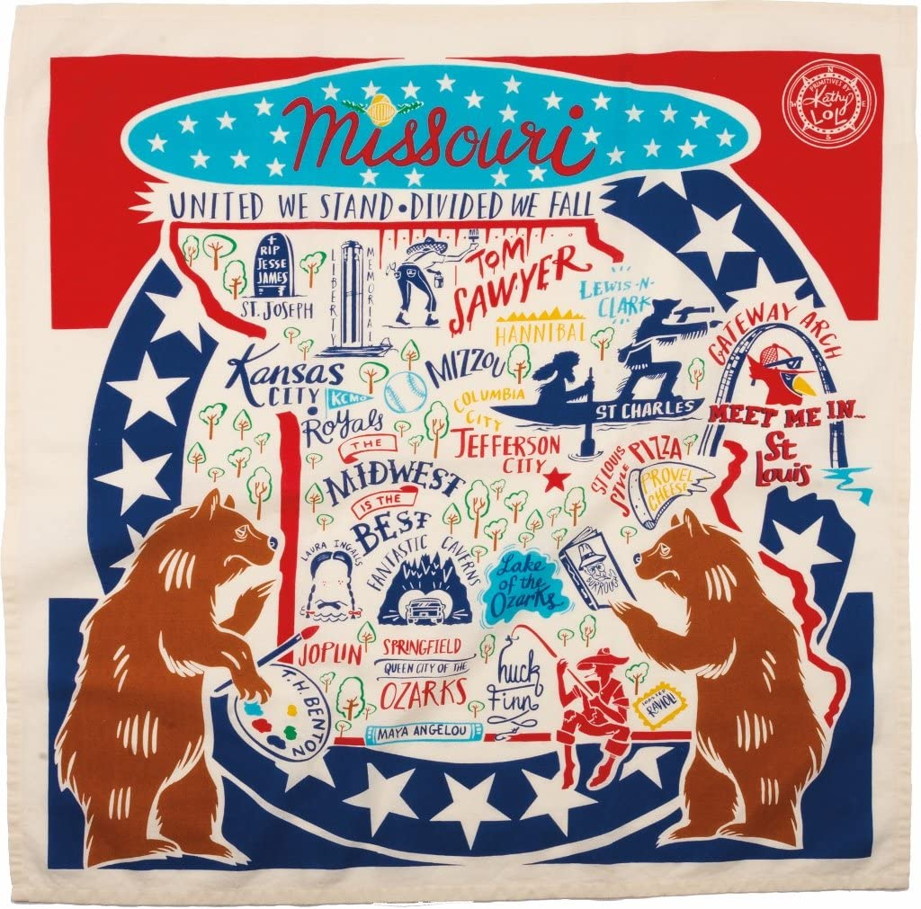 Missouri State Dish Towel Primitives by Kathy