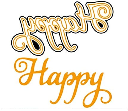 Happy Word Stencil Handcraft Metal Cutting Dies DIY Scrapbooking Crafts Supplies Embossing Paper Cards Making Diecut