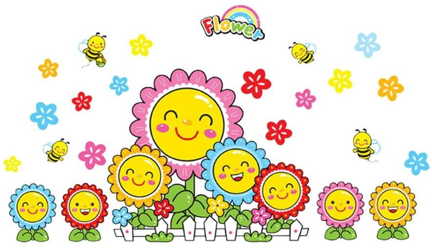Gentle Meow Sticker Child Room Bedroom Kindergarten Wall Decor Stickers Sunflower