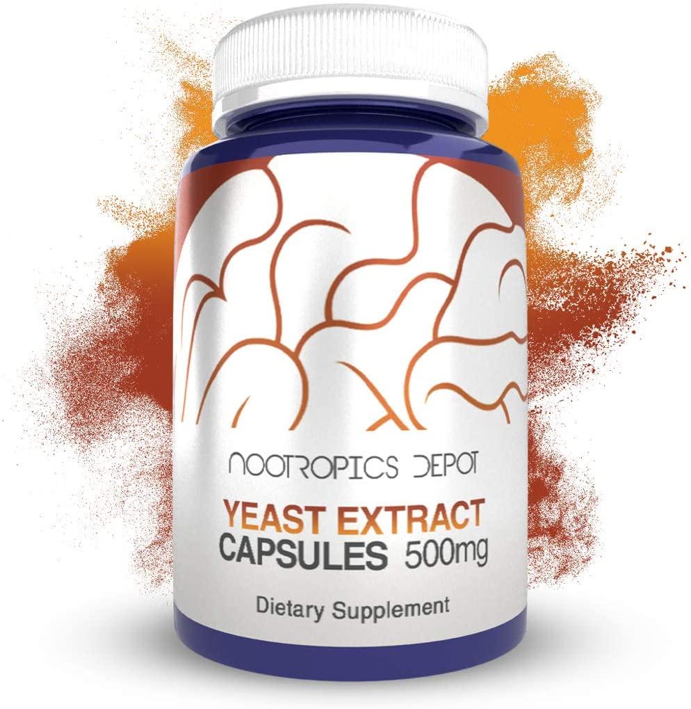 Functional Yeast Extract Capsules | 500mg | 60 Count | Minimum 50% Beta Glucans | Immune Health Supplement