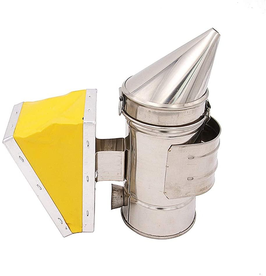 23 S Bee Keeper Smoker Stainless Steel Heat Chamber Yellow Bellow Beekeeping Equipment Bee Smoker for Beekeeper