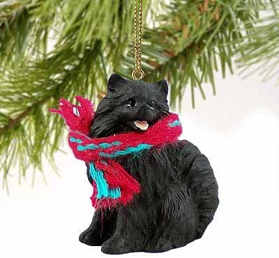Pomeranian Miniature Dog Ornament - Black