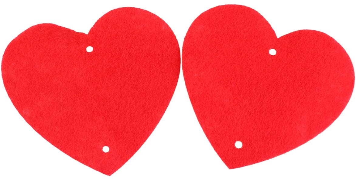 WINOMO 16pcs Hanging Heart String Valentines Day Decorations Engagement Wedding Party (Red)
