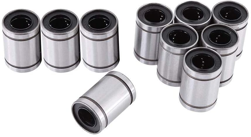 Linear Motion Ball Bearing 10 Pieces 12mm Inner Diameter Bearing for 3D Printer CNC Parts Accessory