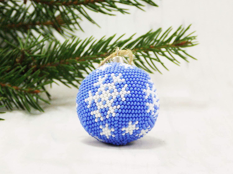 HANDMADE Santa gifts idea snowflake decoration blue rustic home decor winter wedding