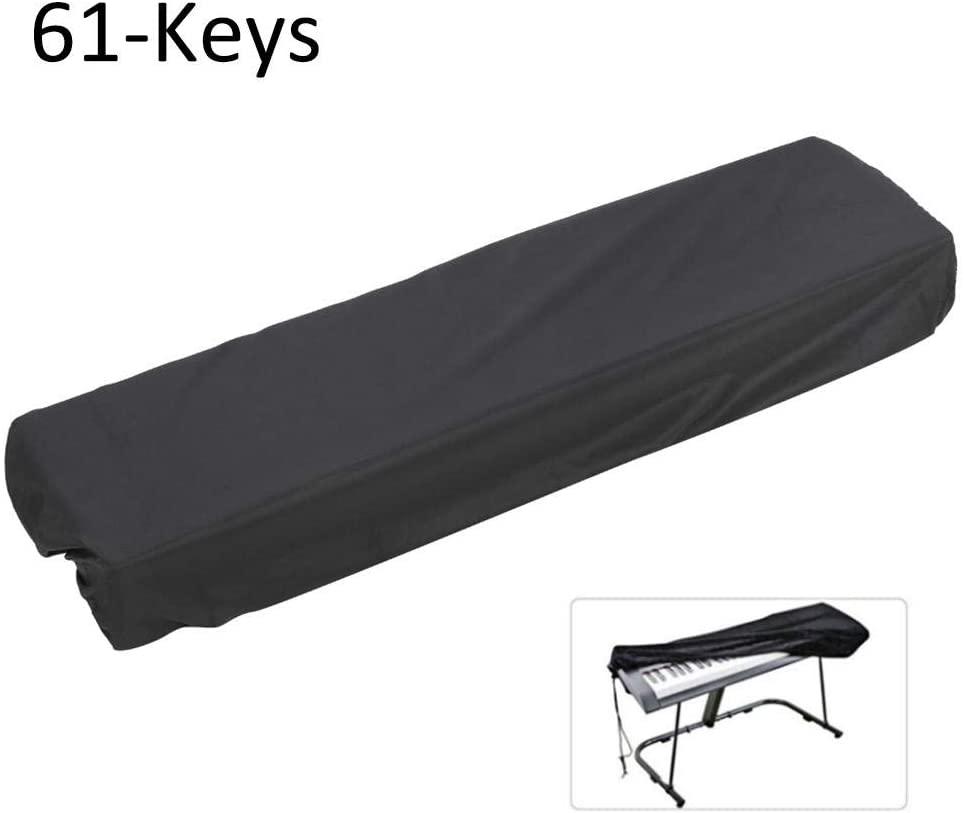 Keyboard Dust Cover, Digital Piano Keyboard Dust Cover Waterproof Dustproof Cover Musical Instrument Accessories(Black 61-Keys)