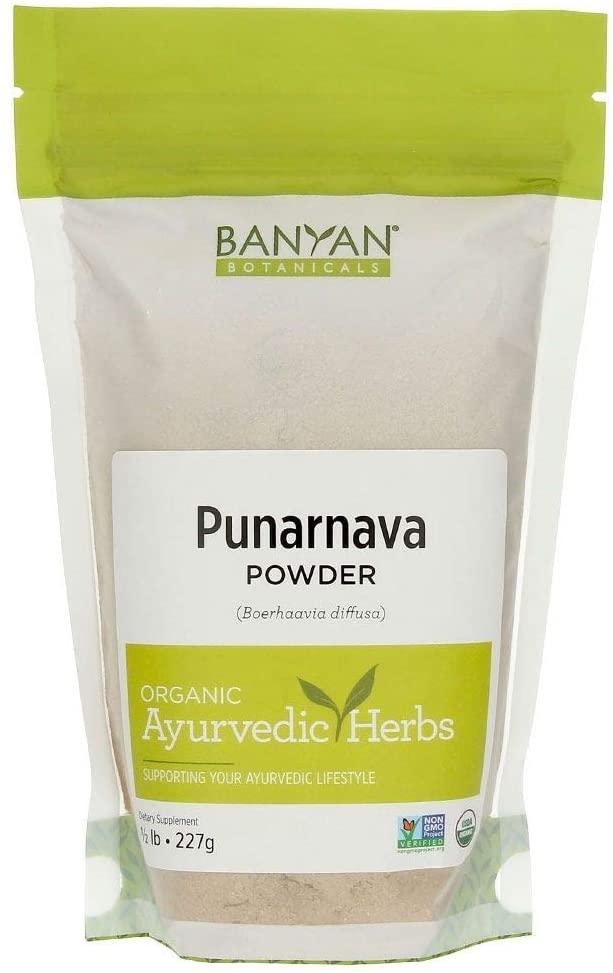 Banyan Botanicals Punarnava Powder - USDA Certified Organic, 1/2 lb - Boerhavia diffusa - Ayurvedic Herb for Heart, Liver, and Kidneys*