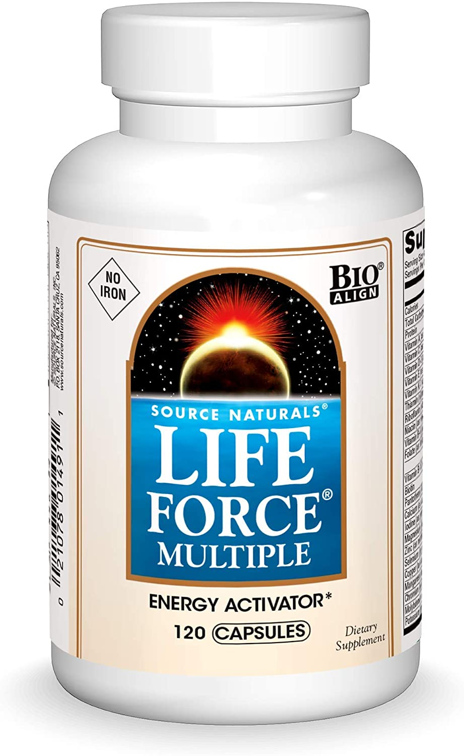 Source Natural Life Force Multiple - NO Iron - Energy Activator - 120 Capsules