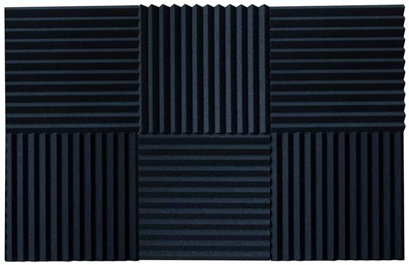 Kaishengwei 6 PACK Acoustic Foam Panels, Studio Wedge Tiles, 1