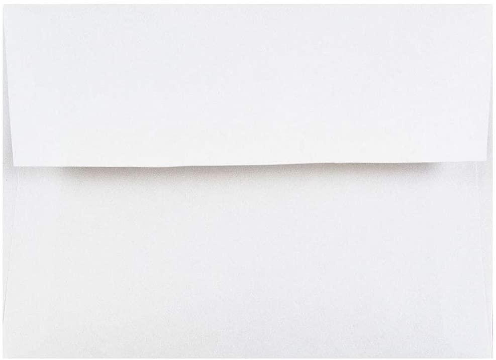 JAM PAPER A2 Invitation Envelopes - 4 3/8 x 5 3/4 - White - 50/Pack