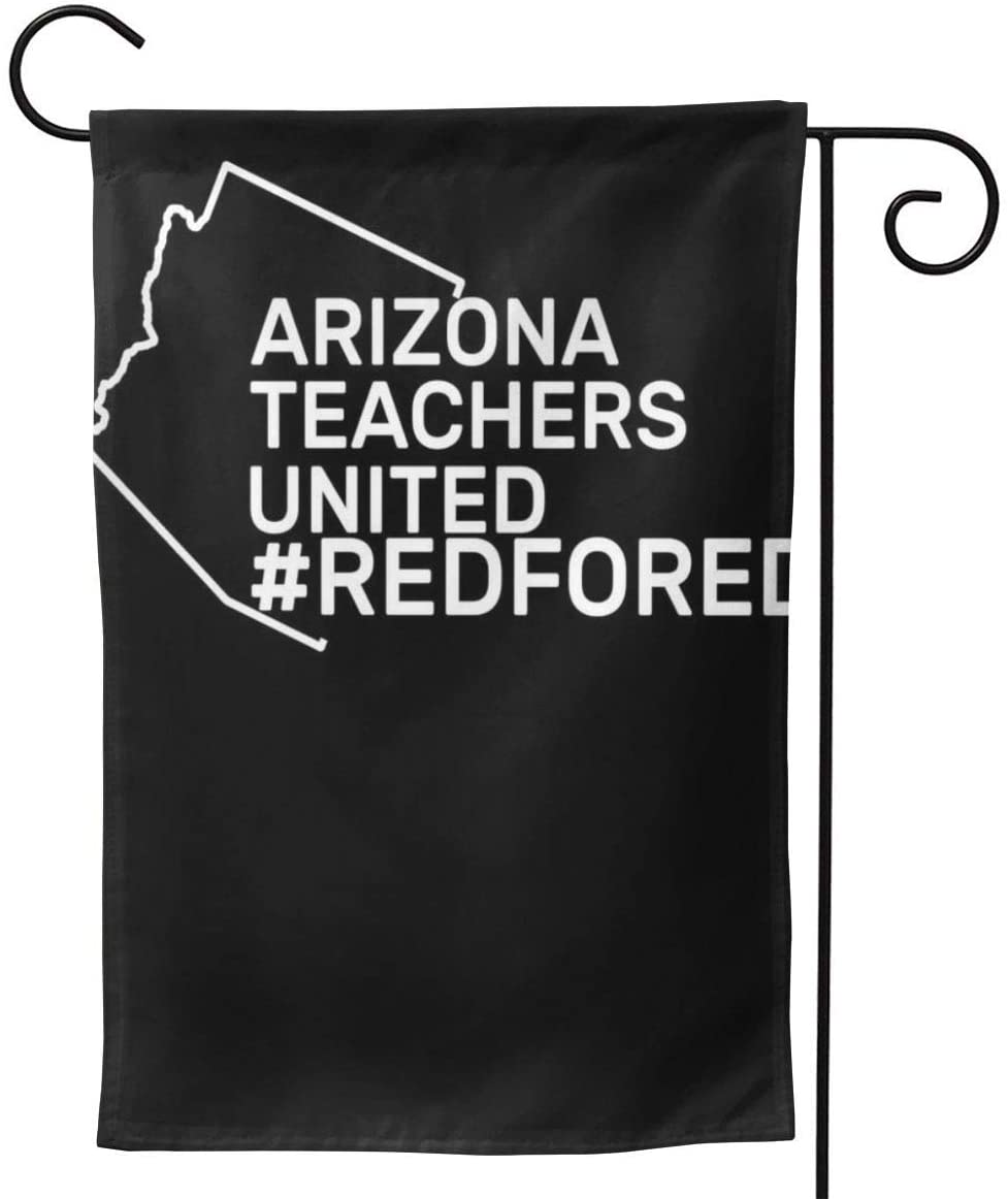 2 Pcs Garden Flag Arizona Teachers United Red for Ed #Redfored Horizontal Poster 12.5
