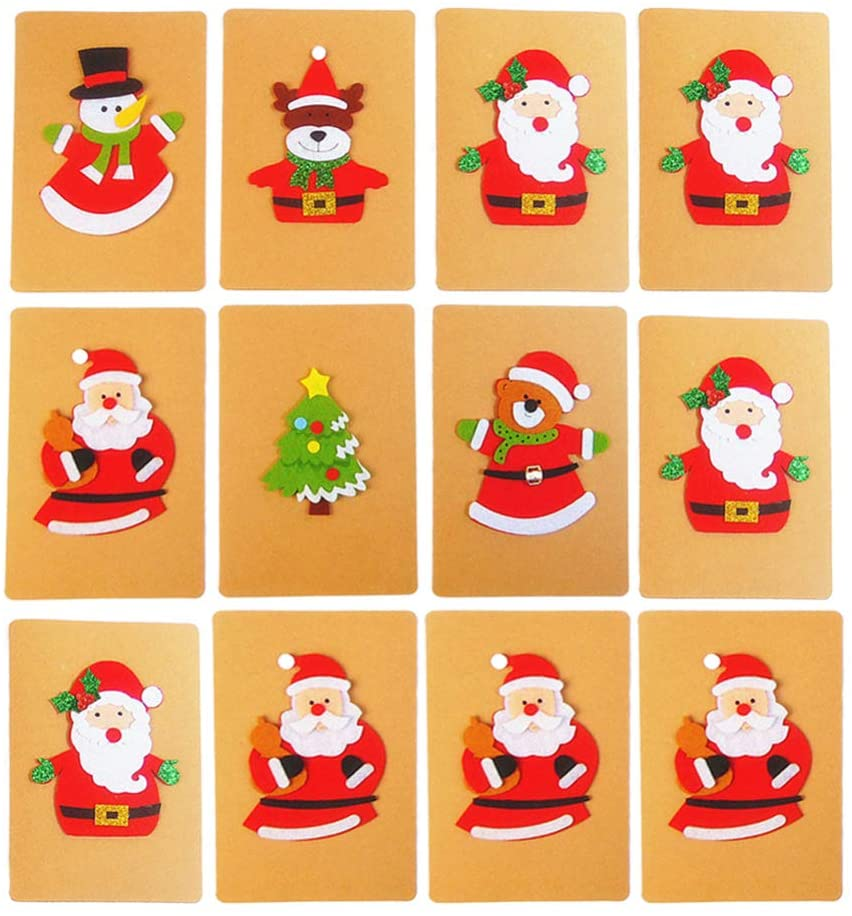 Toyvian Christmas Cards Paper Card Greeting Cards Gift Cards Fashion Cards Message Cards for Christmas Festival Holiday