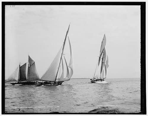 INFINITE PHOTOGRAPHS Photo: Katrina,Troubadour,Yacht,Boas,Ship,Water Vessels,Sailing,Detroit Publishing,1888