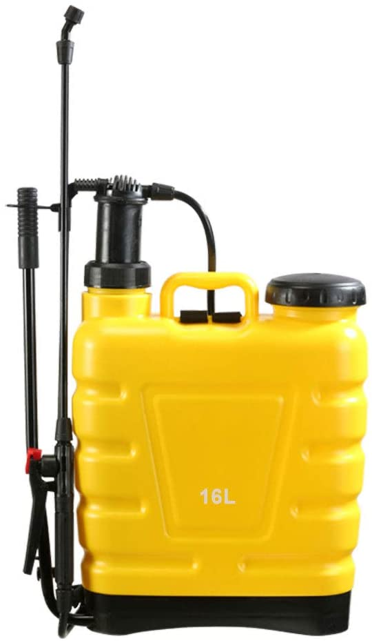 Flesser Backpack Sprayer 4 Gallon Manual Pump Knapsack Sprayer,No Leak and Heavy Duty Suitable for Agricultural Gardening Use