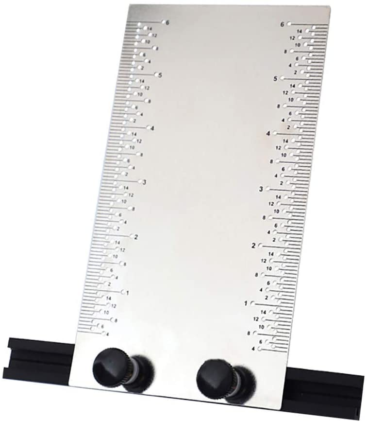 Stainless Steel Multi-function Woodworking Dash Ruler Ruled Line With Base - Good Helper for Woodworker (Silver)