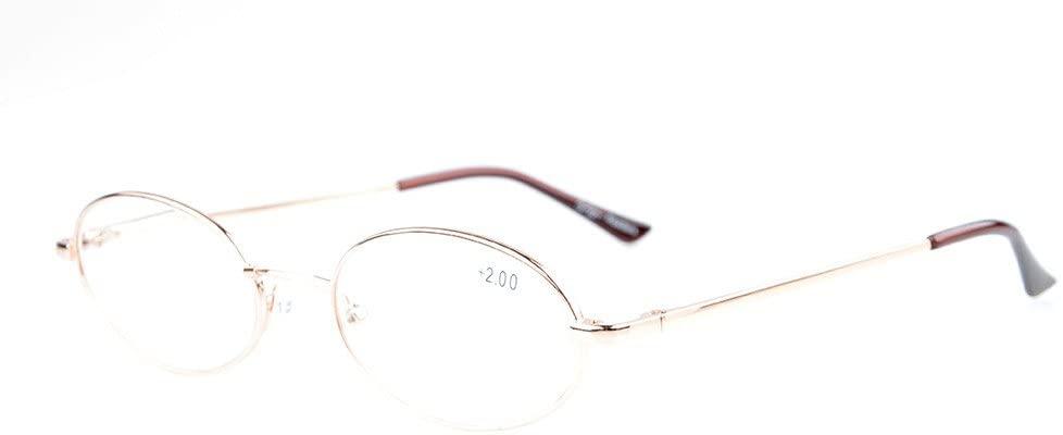 Eyekepper Titanium Memory Bridge Spring Hinges Oval Reading Glasses Gold +1.75
