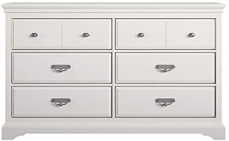 Ameriwood Home Bristol 6 Drawer Dresser in White