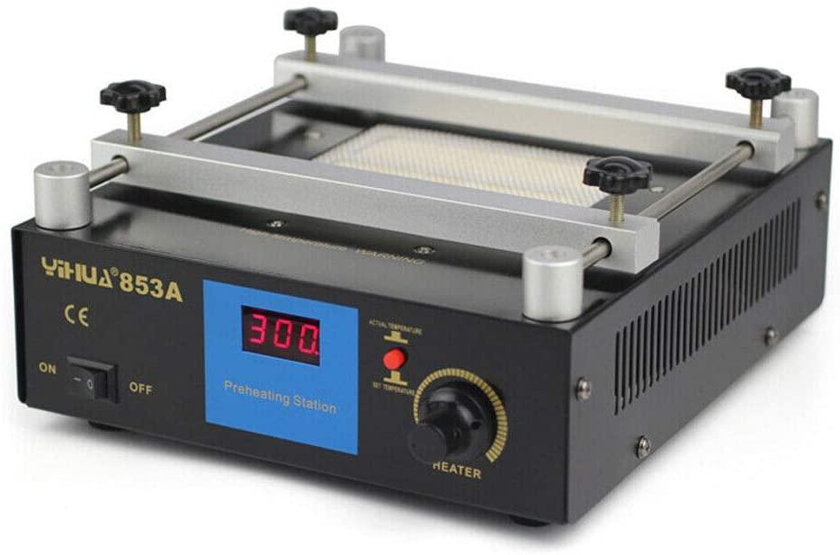 Preheating Rework Station, 110V 853A 600W SMD PCB Preheat bga Rework Station Hot Plate Preheating Oven Welder