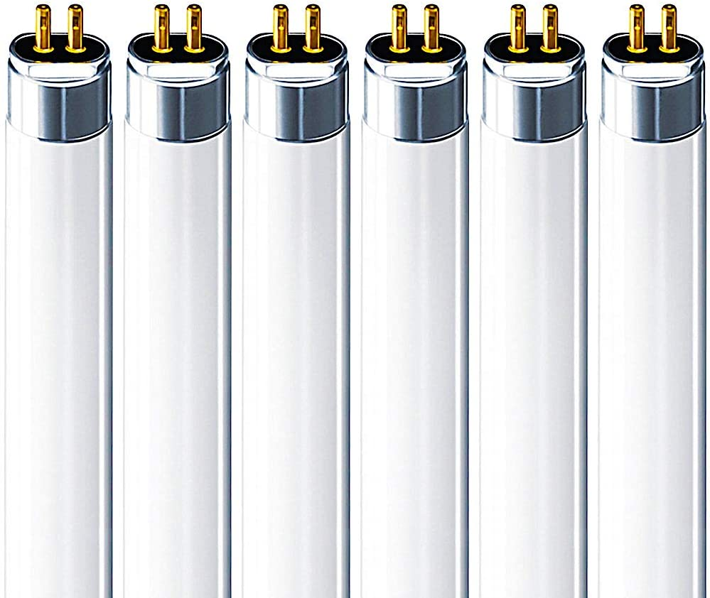Luxrite F28T5/830 28W 46 Inch T5 Fluorescent Tube Light Bulb, 3000K Soft White, 2470 Lumens, G5 Mini Bi-Pin Base, LR20806, 6-Pack