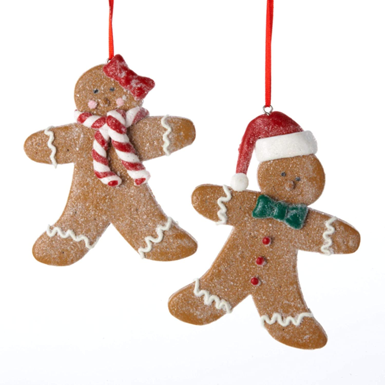 Club Pack of 12 Gingerbread Kisses Boy and Girl Cookie Christmas Ornaments 4.5