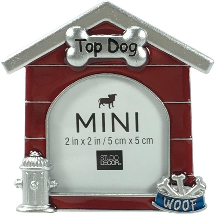 Studio Decor Dog House Shaped Metal Mini Picture Frame 2 X 2