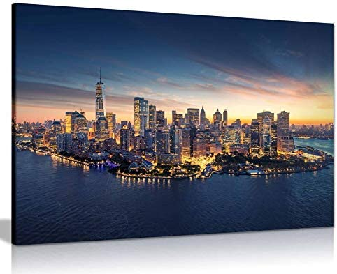 New York Skyline Canvas Wall Art Picture Print Home Decor (36x24)