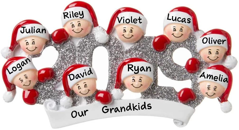 Hobby Home Accessories 2019 Personalized Family Christmas Tree Ornament Free Personalized (Family of 9)