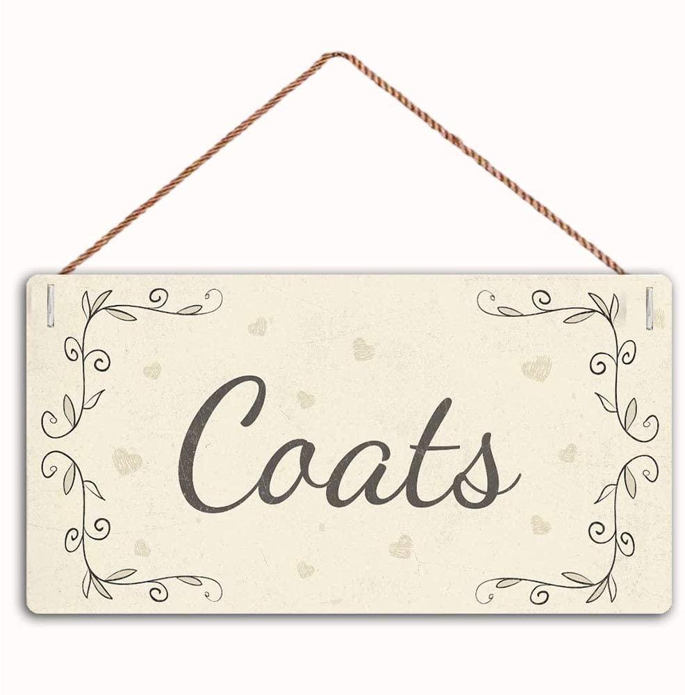 MAIYUAN Coats Sign Home Decor Wood Sign Plaque 12