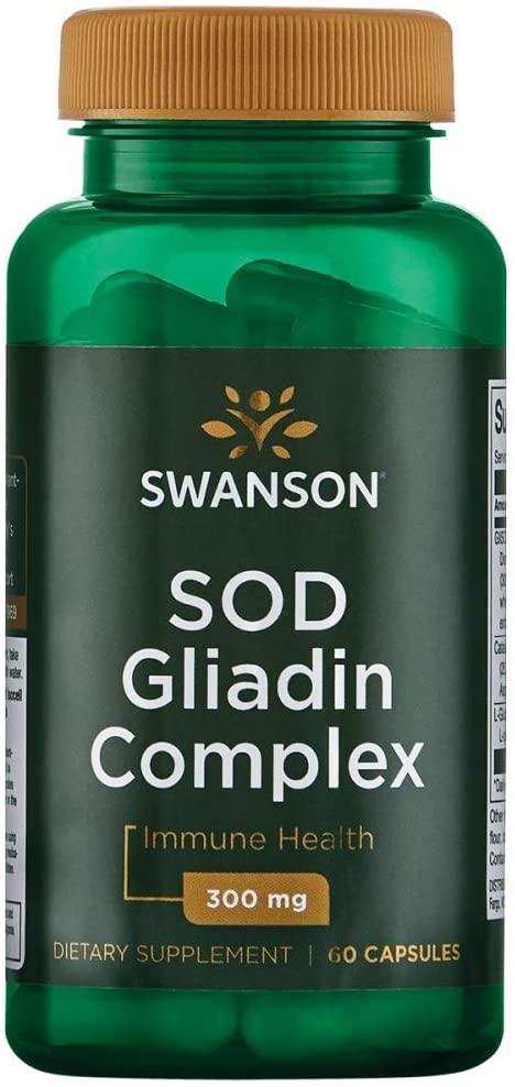 Swanson Sod Gliadin Complex - Glisodin 60 Capsules