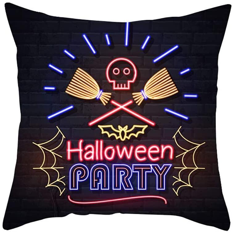 meidexian888 Halloween Pumpkin Throw Pillow Cover Pillowcases Decorative Sofa Cushion Cover Throw Cushion Cover Decoration Halloween Party Supplies Party Favors Decorations(18