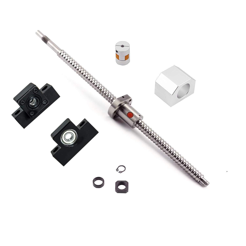 Ball Screw SFU1204 RM1204 Length 980mm Diam 12mm with Ballnut and ballnut housing + end Supports EK/ EF10 + Coupler for CNC, Length Approx 38.6 inch/ 980mm
