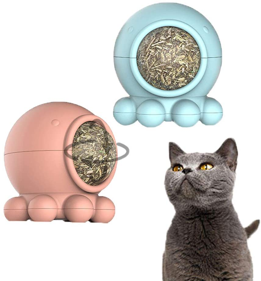 Oncpcare 2 Pack Octopus Catnip Balls, Natural Interactive Cat Toy Balls, Cat Treats Pet Cat Toys Funny Treats Ball Home Chasing Toys for Cats Kitten