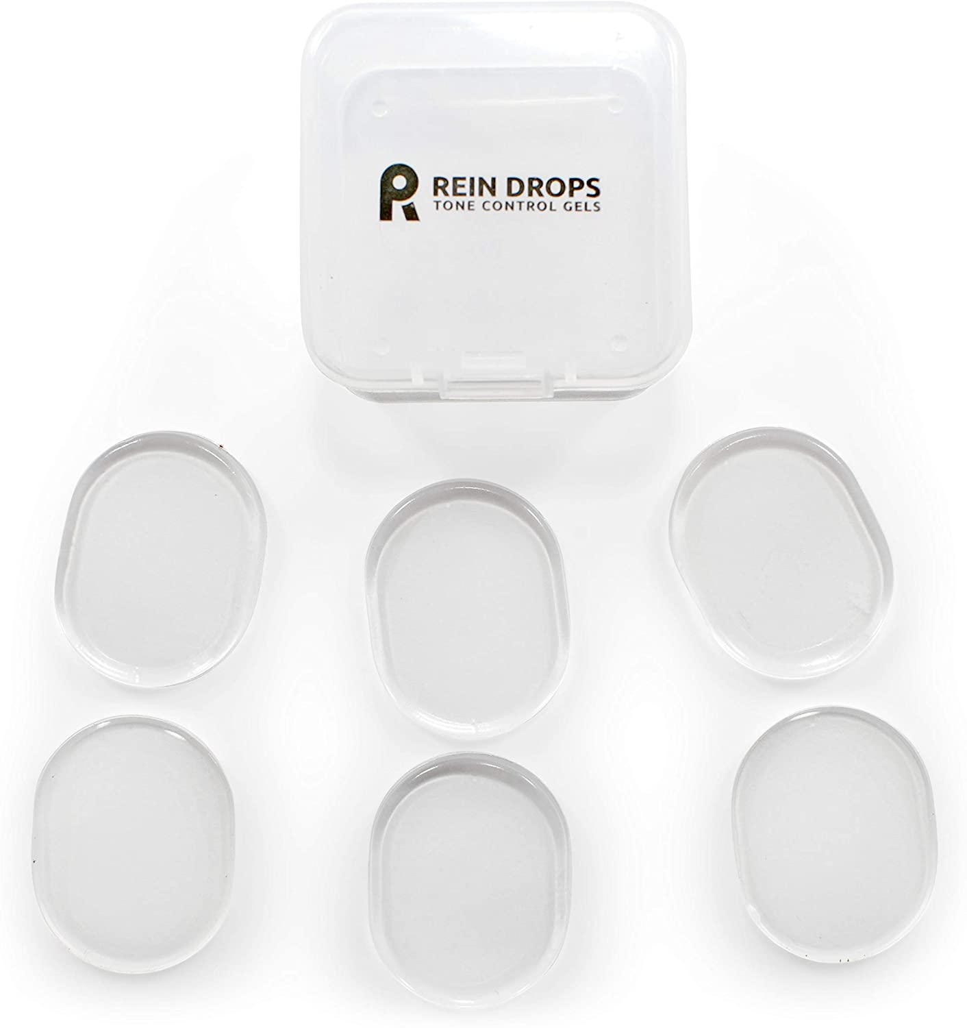 Rein Drops. Drum & Cymbal Tone Control Gels, Six (6) Dampening Gels, Clear Color
