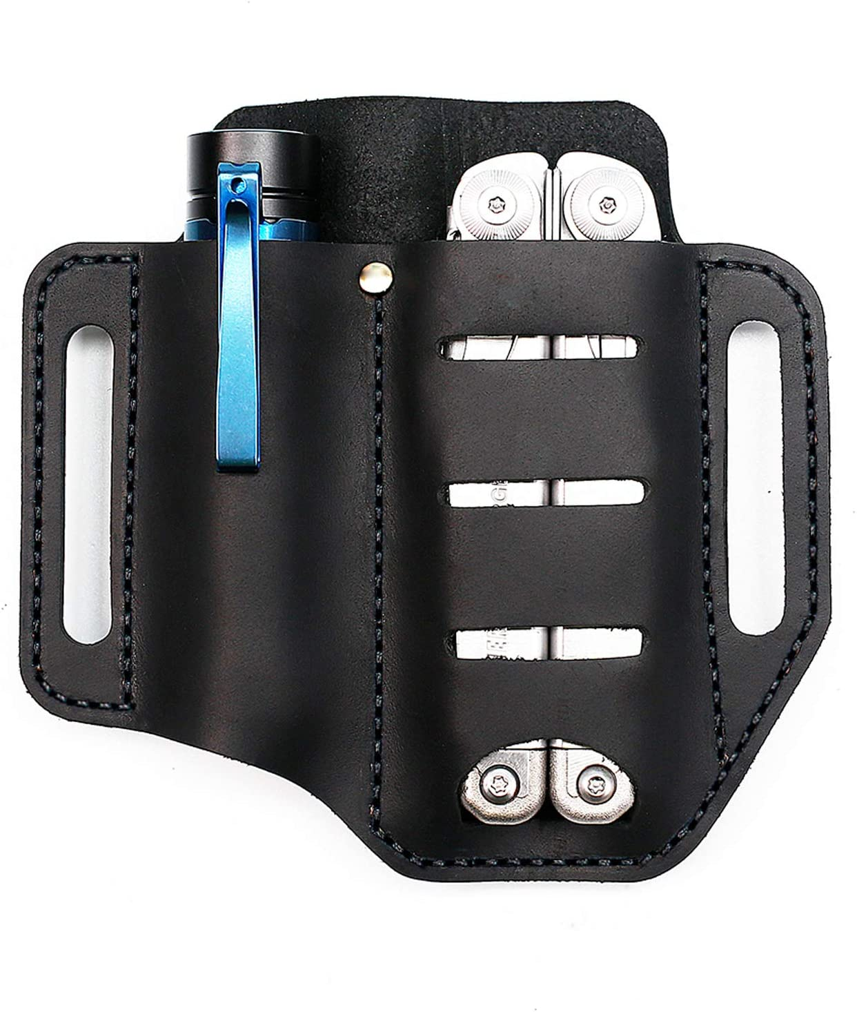 EASYANT Handmade EDC Leather Sheath/Leather Flashlight Holster/Knife Pouches and More Multitools