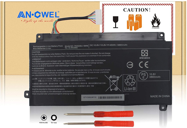 Angwel PA5208U PA5208U-1BRS Laptop Battery for Toshiba Chromebook CB30-B3121 CB35 CB35-B3330 Satellite E45W P55W Series[10.8V 45Wh]