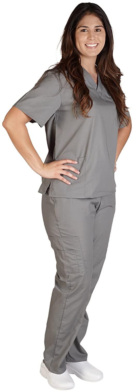 NATURAL UNIFORMS Women's Scrub Set Medical Scrub Top and Pants