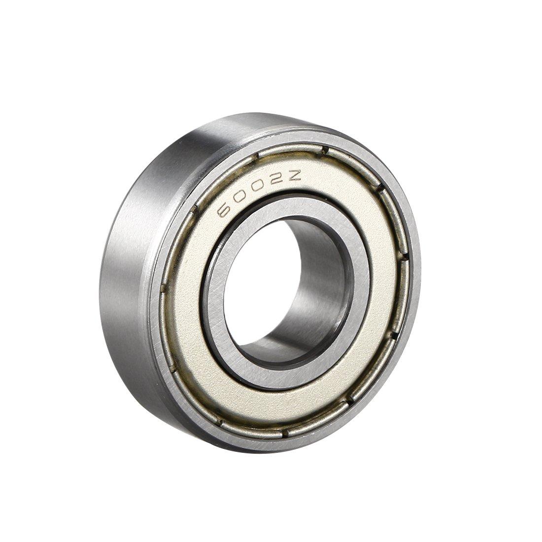 uxcell 6002ZZ Deep Groove Ball Bearing Double Shield 6002-2Z 80102, 15mm x 32mm x 9mm Chrome Steel Bearings (1-Pack)